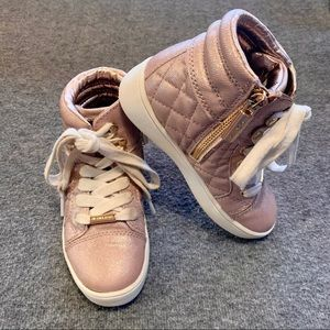 Michael Kors Ivy Casey Saffiano High Top Sneakers
